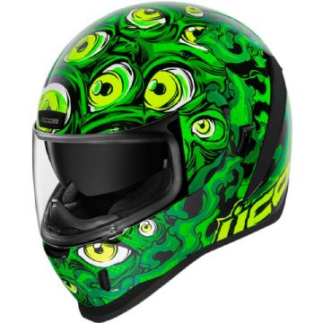 Icon Airform Illuminatus Green Glow In The Dark Motorcycle Motorbike Helmet